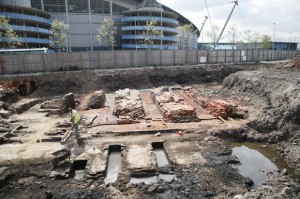 Old and new: Bradford Iron Wroks revealed in the shadow of the City of Manchester Stadium