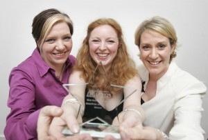 Jackie, Vicky and Liz with the EnterPrize trophy