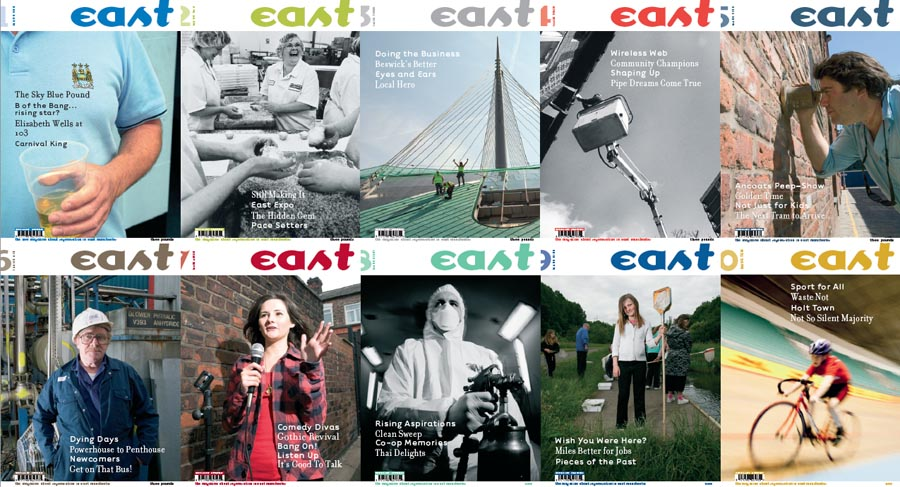 East magazine front covers