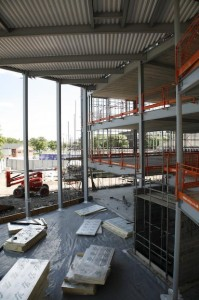The new library will be accessible from the foyer